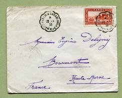 "AMBULANT - CONVOYEUR : "" MARRAKECH A CASABLANCA  2° ""1938 - Maroc (1891-1956)"