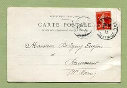 """PERFORE Sur SEMEUSE  :  """" BERGER-LEVRAULT - NANCY """"  1913 - Perforés"""