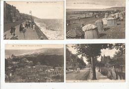 Cp, 14,VILLERS SUR MER, Plage, Rue De La Gare, Digue,panorama,  Vierge , LOT DE 4 CP - Villers Sur Mer