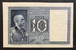 10 LIRE IMPERO 1938 N.C. Fds  LOTTO 467 - Italia – 5 Lire