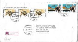 Romania Registered Airmail 1999 First Marine Drilling Platform In Texas, 1996 Bee Beetle (Trichius Fasciatus) - Aéreo