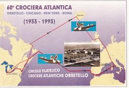 FOLDER TELEFONICO VUOTO 60° CROCIERA ATLANTICA ORBETELLO-CHICAGO-NEW YORK-ROMA 1933-1993 - Italia