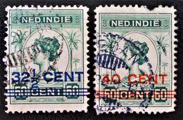 SURCHARGES 1921/22  OBLITERES - YT 128/29 - Niederländisch-Indien