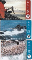 Faroe Islands, OD-025 - 27, Set Of 3 Cards, Faroese Fishing, 2 Scans. - Faroe Islands