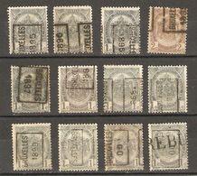 Belgique 1895/1900 - Préoblitérés Bruxelles - Armoiries - Petit Lot De 12° Avec Positions A Et B - 1 Rebut - Cob 53/54 - Préoblitérés