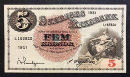 Svezia Sveriges 5 Kronor 1951  LOTTO 565 - Suède