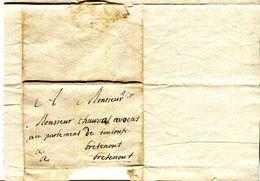 13.LETTRE DE AIX EN PROVENCE A BRETENOUX (46) A M.CHAUVAS AVOCAT AU PARLEMENT DE TOULOUSE. - Manuscrits