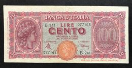 100 LIRE ITALIA TURRITA 10 12 1944  OTTIMO ASPETTO E BEI COLORI BB+ LOTTO 581 - 100 Lire