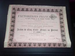 Factoreries Françaises Du Golfe Persique & De L'afrique Orientale (1883) - Aandelen