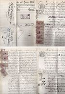 Document Avec Timbres Fiscaux De 1912 - 4 Pages - Mention Des Villages : Ste Radegonde, Puycasquier (Gers)    (103916) - Cachets Généralité