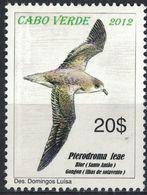 Cap Vert 2012 Neuf Avec Gomme Oiseau Pterodroma Feae Pétrel Gongon Diablotin - Cape Verde
