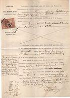 Document Avec Timbres Fiscal De 1893 - Mention Des Villages :Lectoure, Cadeilhan,St Clar... (Gers)    (103918) - Cachets Généralité