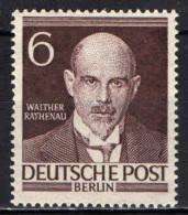 BERLINO - 1952 - RATHENAU - ECONOMISTA - MH - Ongebruikt