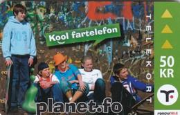 Faroe Islands, OR-004, 50 Kr ,  Planet.fo, Children, 2 Scans. - Faroe Islands