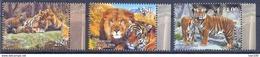 2017. Tajikistan, Wild Cats, 3v Perforated, Mint/** - Tajikistan