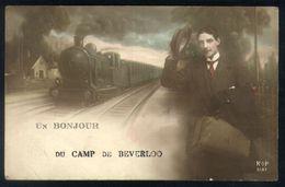 Z08 - Leopoldsburg - Un Bonjour De Camp De Beverloo - Used 1914 - Steam Train / Stoomtrein - Leopoldsburg (Camp De Beverloo)