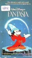 Télécarte Japon * 110-195314 * DISNEY * MOVIE POSTER COLLECTION  (6318) MICKEY Magie Cinema * FANTASIA * Japan Phonecard - Disney
