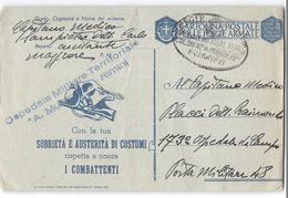 AG1669  FRANCHIGIA OSPEDALE DA MILITARE TERRITORIALE A. MUSSLINI RIMINI X 173 OSEDALE MILITARE DA CAMPO POSTA MILITARE 4 - 1900-44 Vittorio Emanuele III