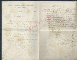 LETTRE DE 1870 JULIEN THIBONNEAU NOTAIRE À LORRIS : - Manuscrits