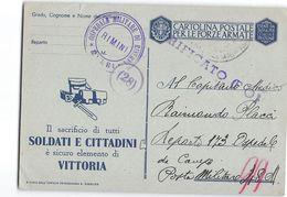 AG1673  FRANCHIGIA OSPEDALE MILITARE DI RISERVA RIMINI X POSTA MILITARE 48 - CENSURA VERIFICATO FO - 1900-44 Vittorio Emanuele III