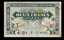 # # # Banknote Algerien (Algeria) 2 Francs 1949 # # # - Algerien