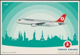 Turkish Airlines Airbus A 320-200 - Turkish Airlines Postcard - 1946-....: Modern Era