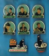 LOT De 8 + 1 PIN'S //   ** PANZANI ** + ** DON PATILLO ** - Badges
