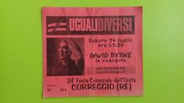 Biglietto Concerto DAVID BYRNE - Correggio (RE) - Sabato 14 Luglio - Biglietti Per Concerti