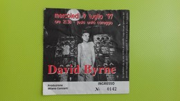 Biglietto Concerto DAVID BYRNE - Correggio (RE) - Mercoledi 9 Luglio 1997 - Biglietti Per Concerti