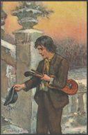 Spare A Penny, Busker With Violin, C.1905 - Hildesheimer Postcard - Illustrators & Photographers