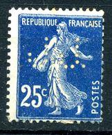 France Y&T 137 (*)  Perforé - 1906-38 Semeuse Camée
