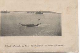 CPA GRECE LE PIRÉE L'Escadre Française - Divertissements - Les Joutes - La Targue 1917 - Guerre 1914-18
