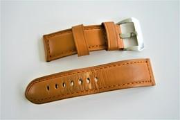 Watches BANDS : LUMINOR PANERAI VINTAGE USED GENUINE LEATHER - RaRe - Original - Horloge: Luxe