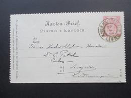 Österreich / Bosnien 1898 Kartenbrief K2 Gesendet Von Livno Nach Sarajevo. KuK Militär Post - Bosnien-Herzegowina