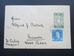 Österreich / Bosnien 1918 Aufbrauchsausgabe P 27 Nach Gravosa Gesendet! Hotel Petra. Bedarf!! Hofrat Patsch. - Bosnien-Herzegowina
