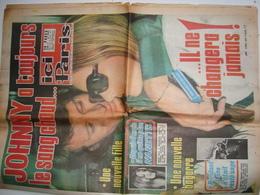 Journal ICI PARIS Du 04 Avril 1972 - Johnny HALLYDAY - Sylvie VARTAN - Johnny A Toujours Le Sang Chaud. - Journaux - Quotidiens