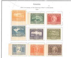 Panama PO 1939 25 Ann. Panama Canal   Scott.322/330+See Scans On Scott.Page - Panama