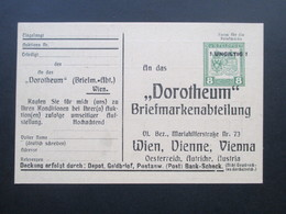 Österreich Um 1910 Ganzsache / Privatganzsache Stempel: ! Ungilig ! Dorotheum Briefmarkenabteilung. Auktion - 1850-1918 Imperium
