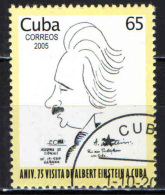 CUBA - 2005 - ALBERT EINSTEIN - CARICATURA - USATO - Cuba