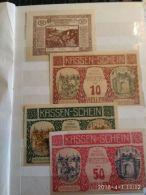 4 Notgeld Heller Vari Valori 1920  N. 233 - Autriche