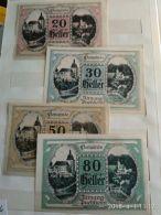 4 Notgeld Heller Vari Valori 1920  N. 234 - Austria