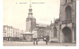 Sint-Truiden-Saint-Trond-+/-1910-Marché Aux Légumes-Ancienne Eglise Abbatiale-Pharmacie-commerce De Draps-café-Kiosque - Sint-Truiden