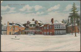 Brett Hospital, Banff, Alberta, 1910 - D White Postcard - Banff