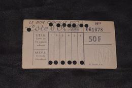 Ticket Tram STIB MIVB N15 50 Francs 13 Voyages - Tram
