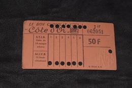 Ticket Tram STIB MIVB J17 50 Francs 13 Voyages - Tram