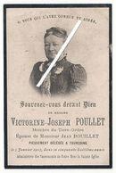 Image Mortuaire - Roubaix - Tourcoing - POULLET Victorine Jhe (épouse BOUILLET Jean Henri) - Décès