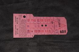 Ticket Tram STIB MIVB G5 60 Francs 9 Voyages - Tram