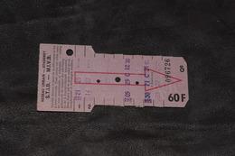 Ticket Tram STIB MIVB Q6 60 Francs 9 Voyages - Tram