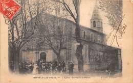 13 - BOUCHES DU RHONE / 13929 - Raphèle Les Arles - L'église - Sortie De La Messe - France