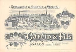 13 - BOUCHES DU RHONE / Salon -13941 - Carte Illustrée - Savonnerie Et Huilerie à Vapeur - Salon De Provence